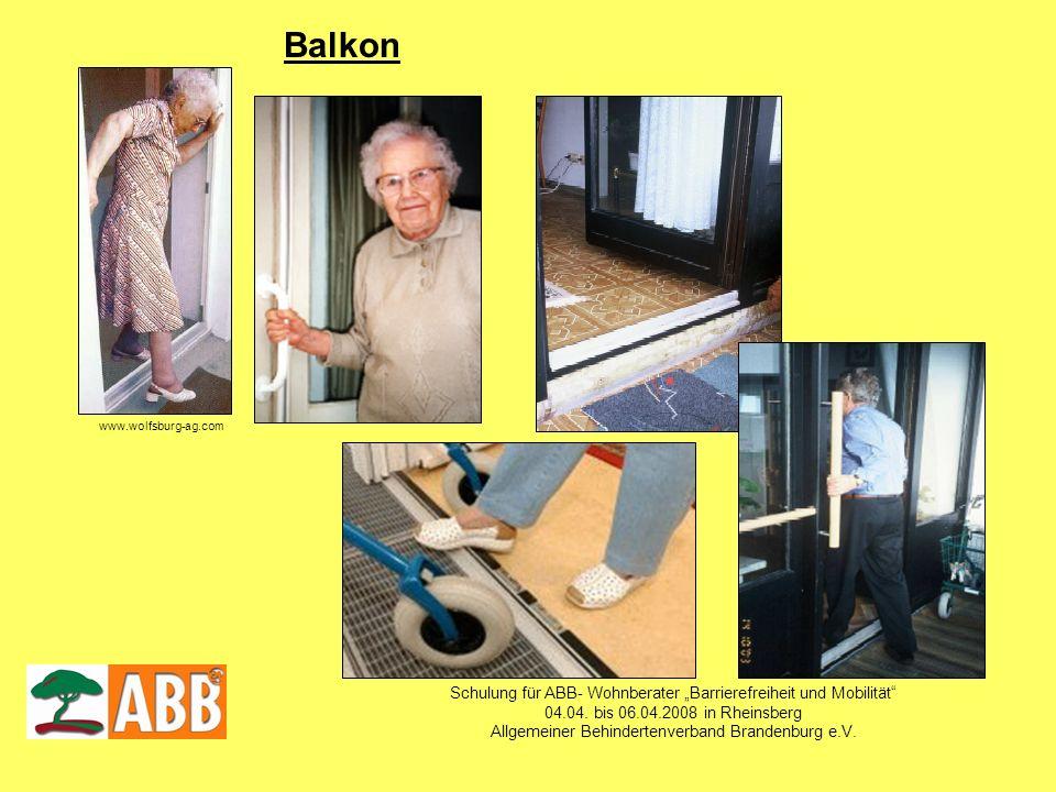"""Balkon Schulung für ABB- Wohnberater """"Barrierefreiheit und Mobilität"""