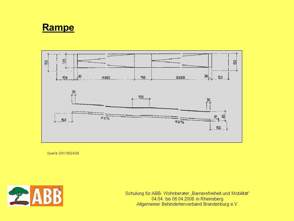 """Rampe Schulung für ABB- Wohnberater """"Barrierefreiheit und Mobilität"""