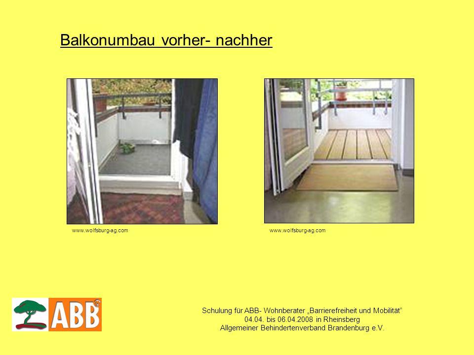 Balkonumbau vorher- nachher