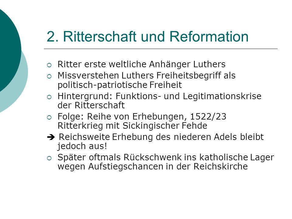 2. Ritterschaft und Reformation
