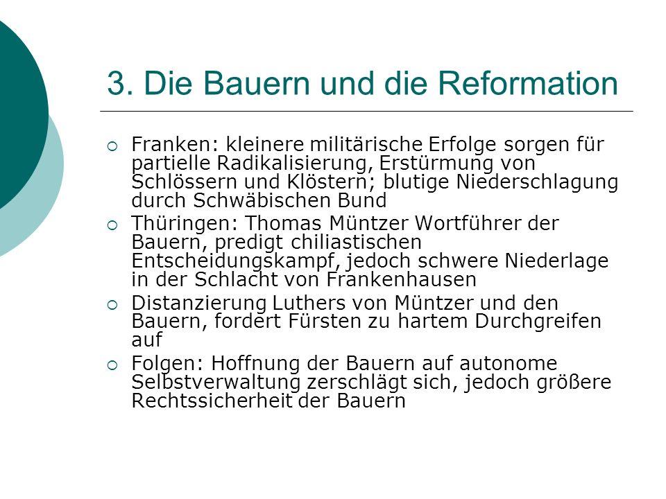 3. Die Bauern und die Reformation