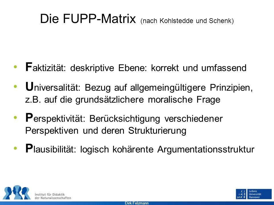 Die FUPP-Matrix (nach Kohlstedde und Schenk)