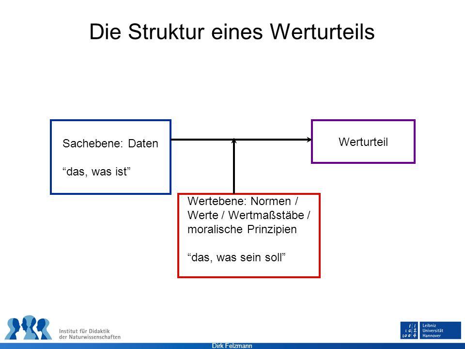 Die Struktur eines Werturteils