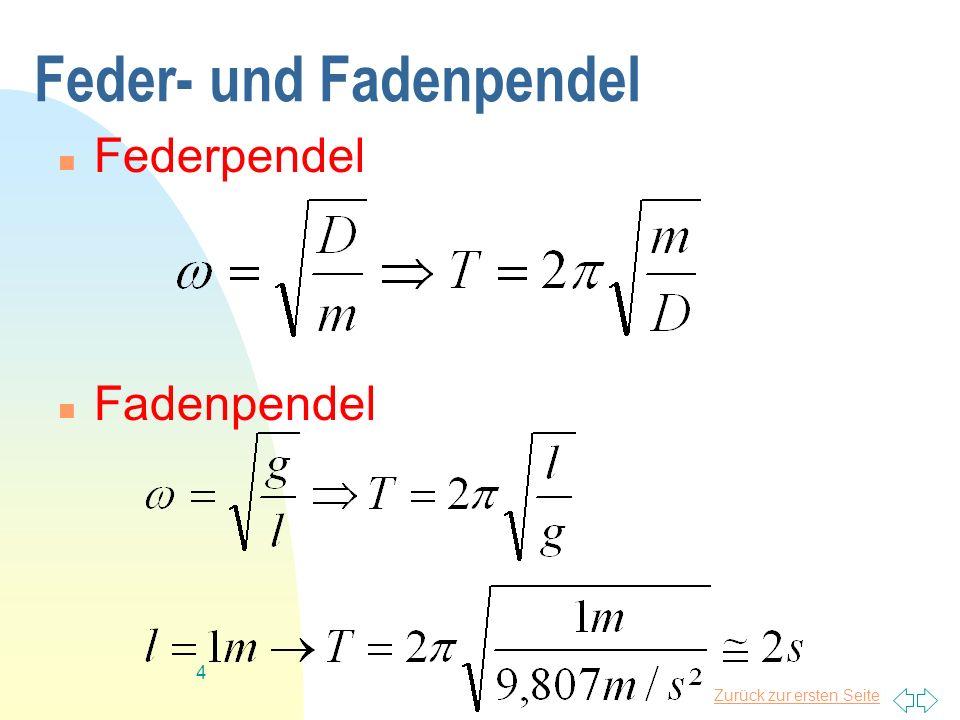 Feder- und Fadenpendel