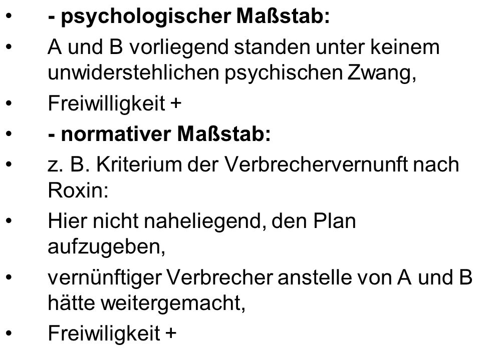 - psychologischer Maßstab: