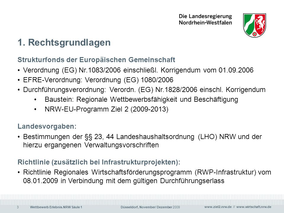 Rechtsgrundlagen Strukturfonds der Europäischen Gemeinschaft