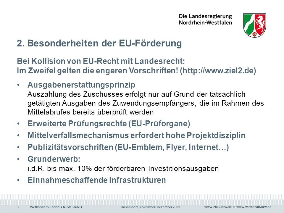 2. Besonderheiten der EU-Förderung
