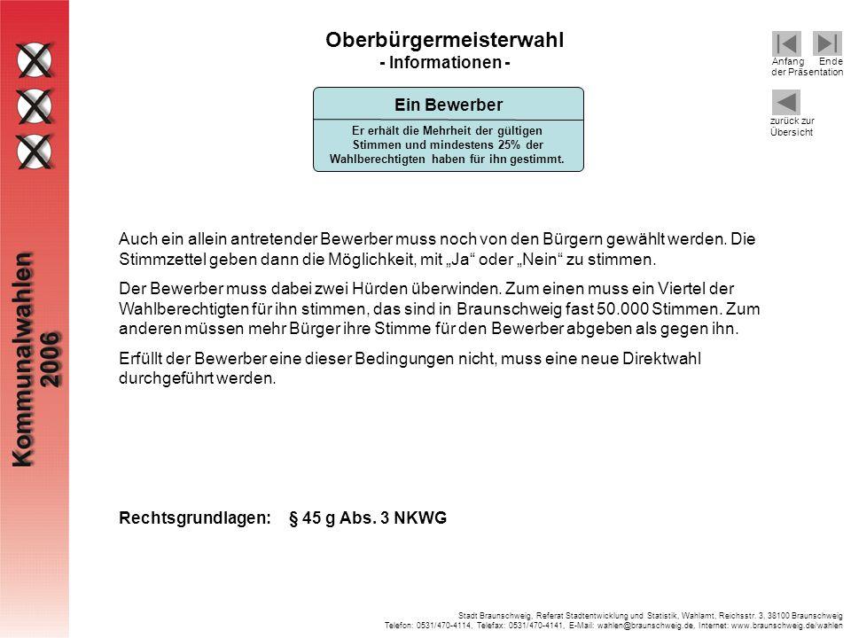 Oberbürgermeisterwahl - Informationen -