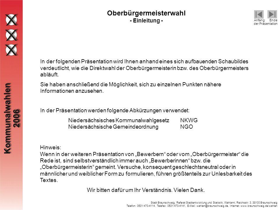 Oberbürgermeisterwahl - Einleitung -