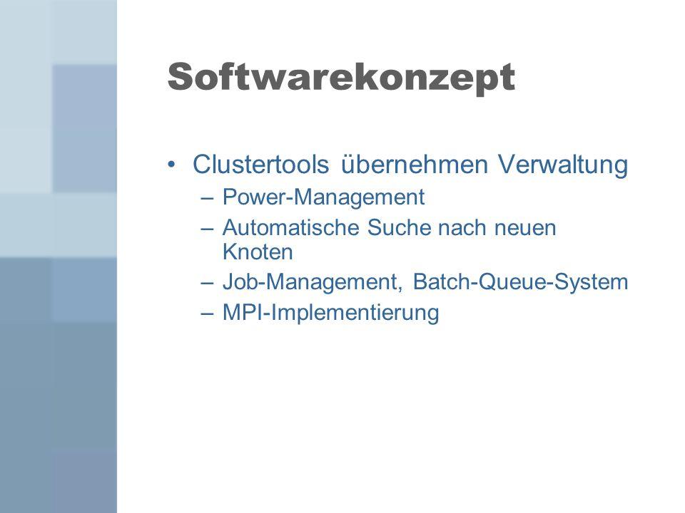 Softwarekonzept Clustertools übernehmen Verwaltung Power-Management