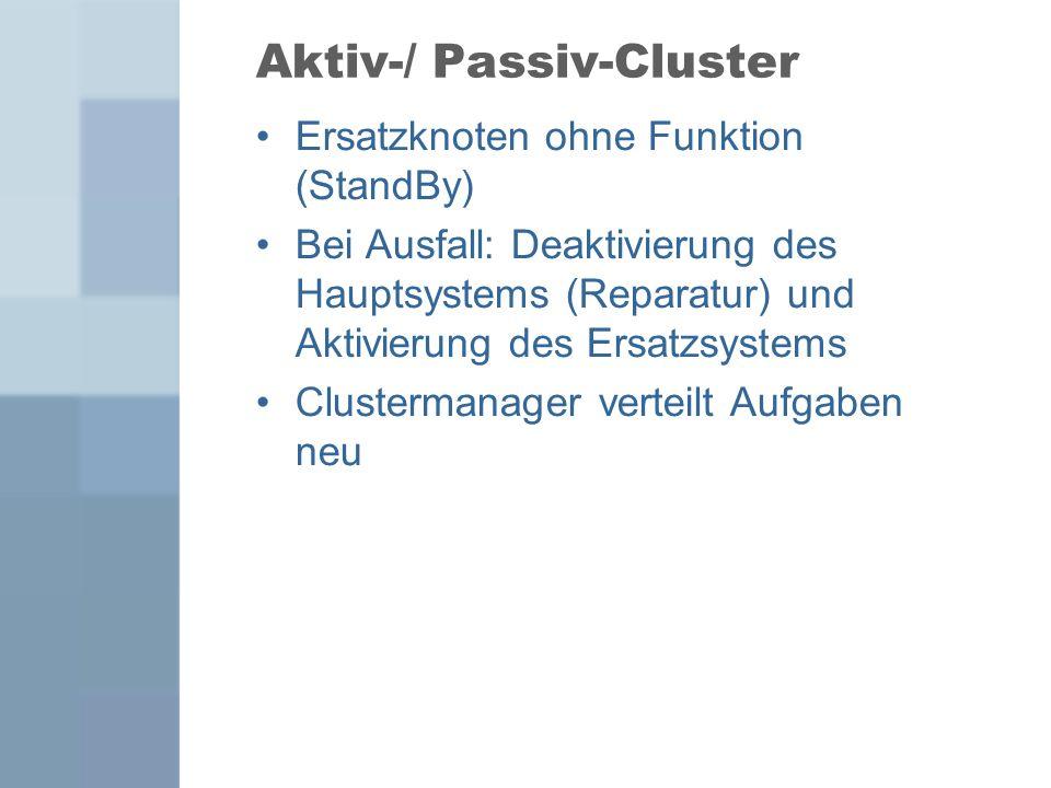 Aktiv-/ Passiv-Cluster