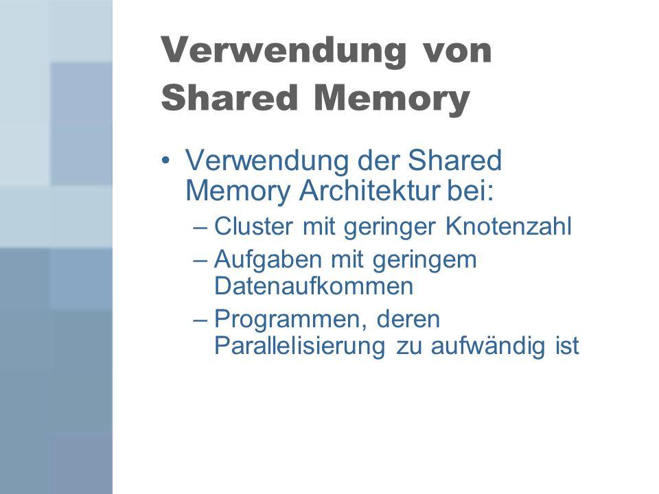 Verwendung von Shared Memory