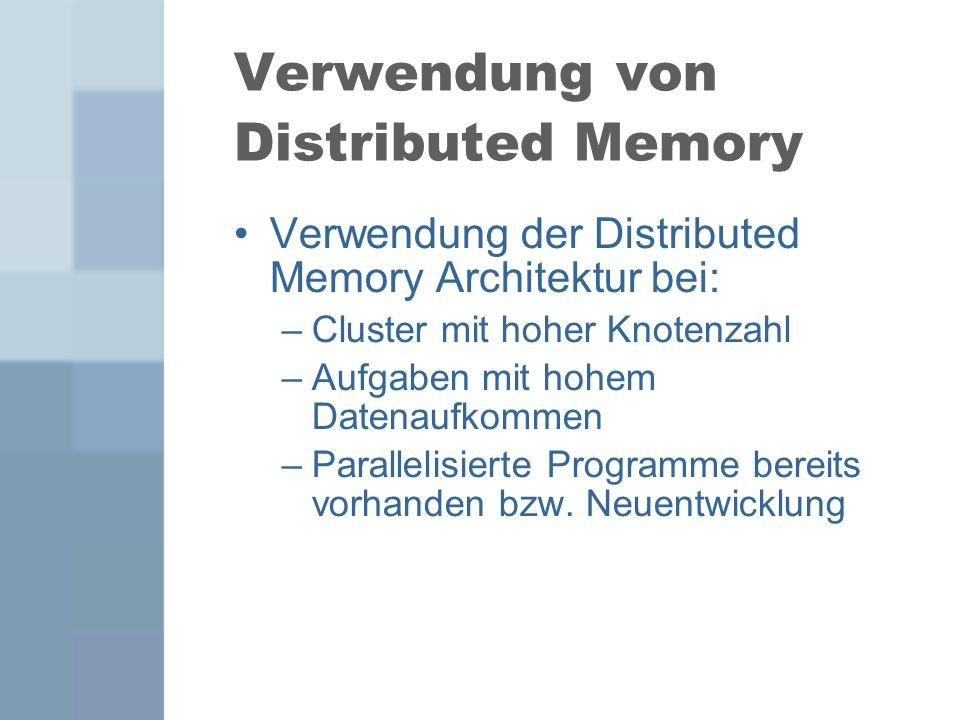 Verwendung von Distributed Memory