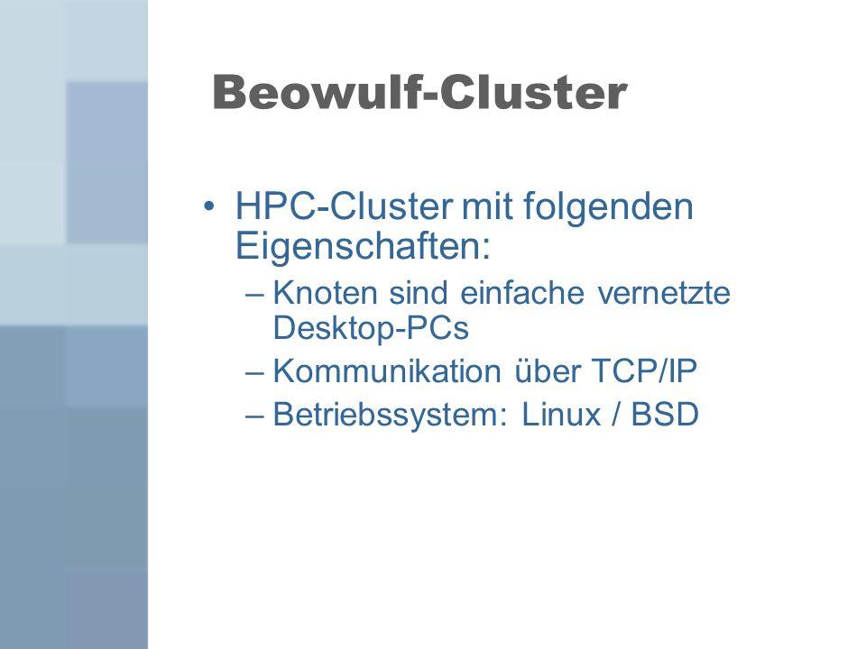 Beowulf-Cluster HPC-Cluster mit folgenden Eigenschaften: