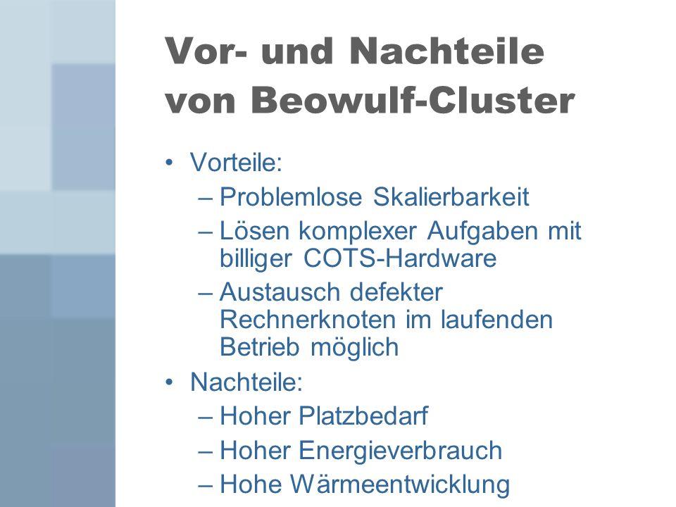 Vor- und Nachteile von Beowulf-Cluster