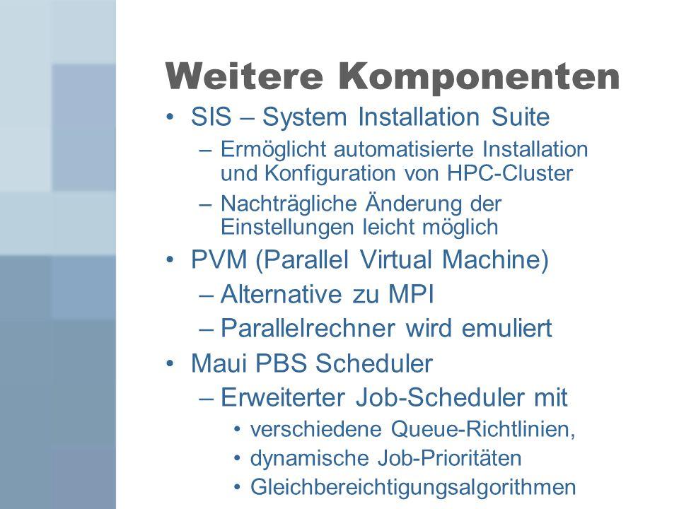 Weitere Komponenten SIS – System Installation Suite
