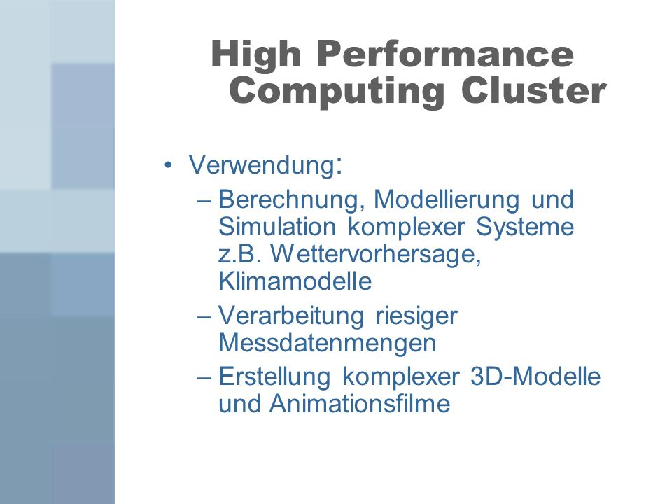 High Performance Computing Cluster