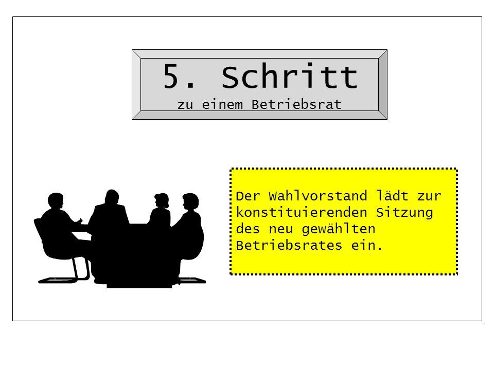 5. Schritt zu einem Betriebsrat