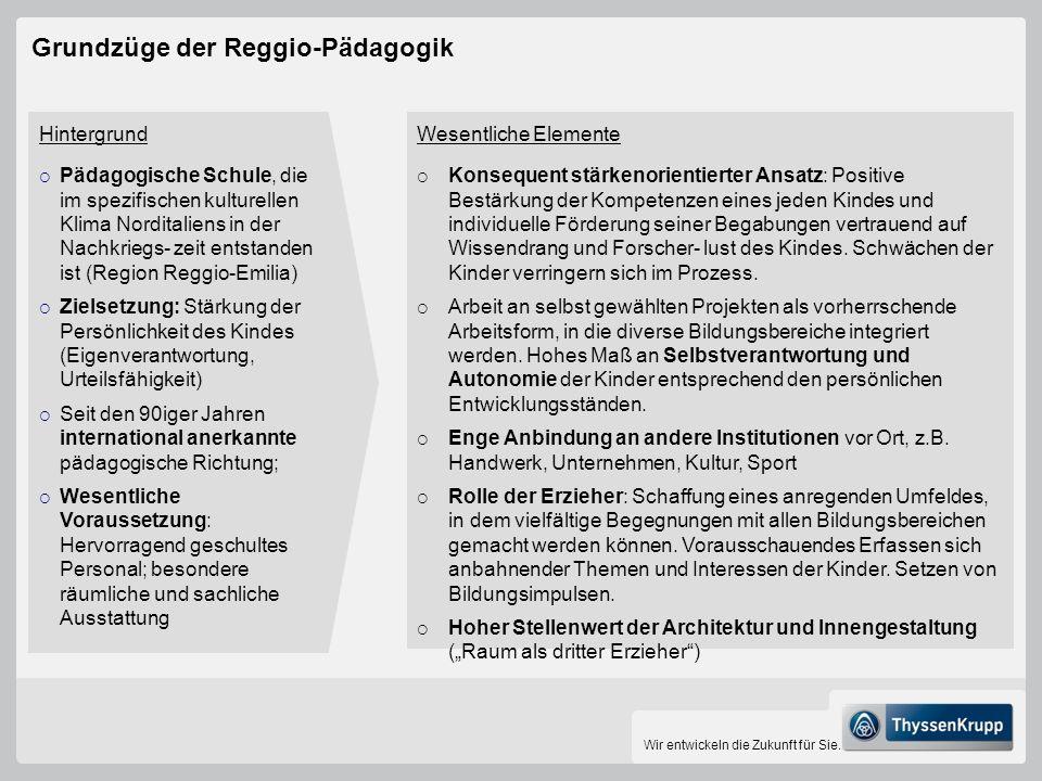 Grundzüge der Reggio-Pädagogik