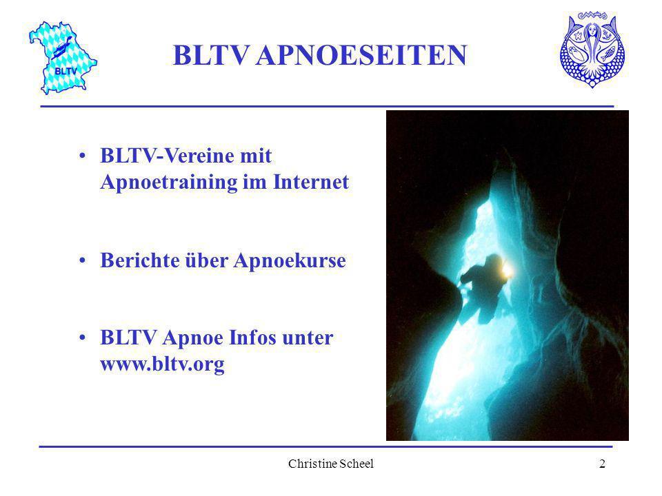 BLTV APNOESEITEN BLTV-Vereine mit Apnoetraining im Internet