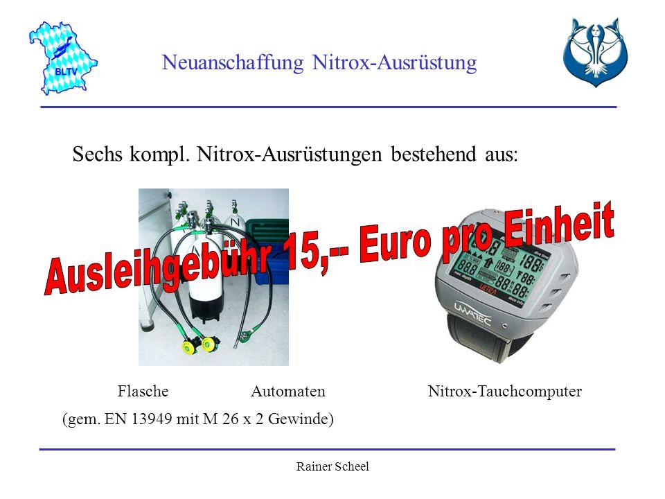 Ausleihgebühr 15,-- Euro pro Einheit