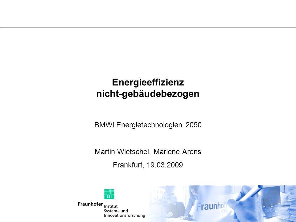 Energieeffizienz nicht-gebäudebezogen