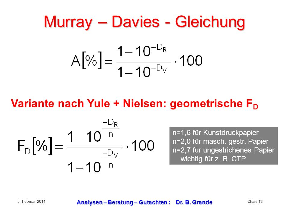 Murray – Davies - Gleichung