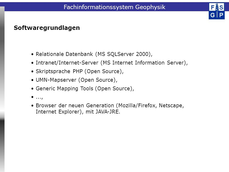 Softwaregrundlagen Relationale Datenbank (MS SQLServer 2000),