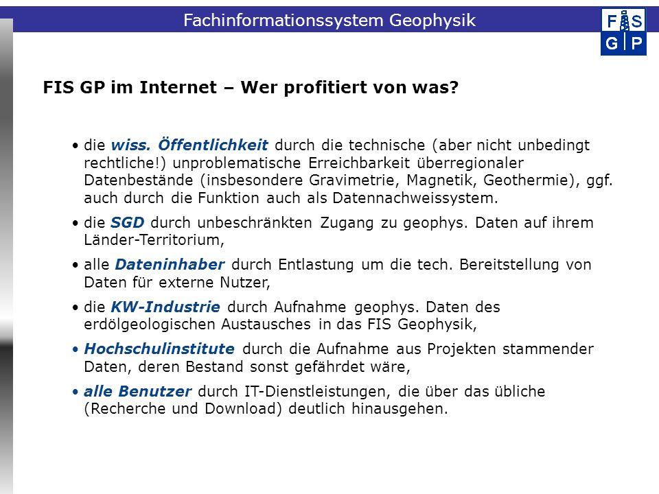 FIS GP im Internet – Wer profitiert von was