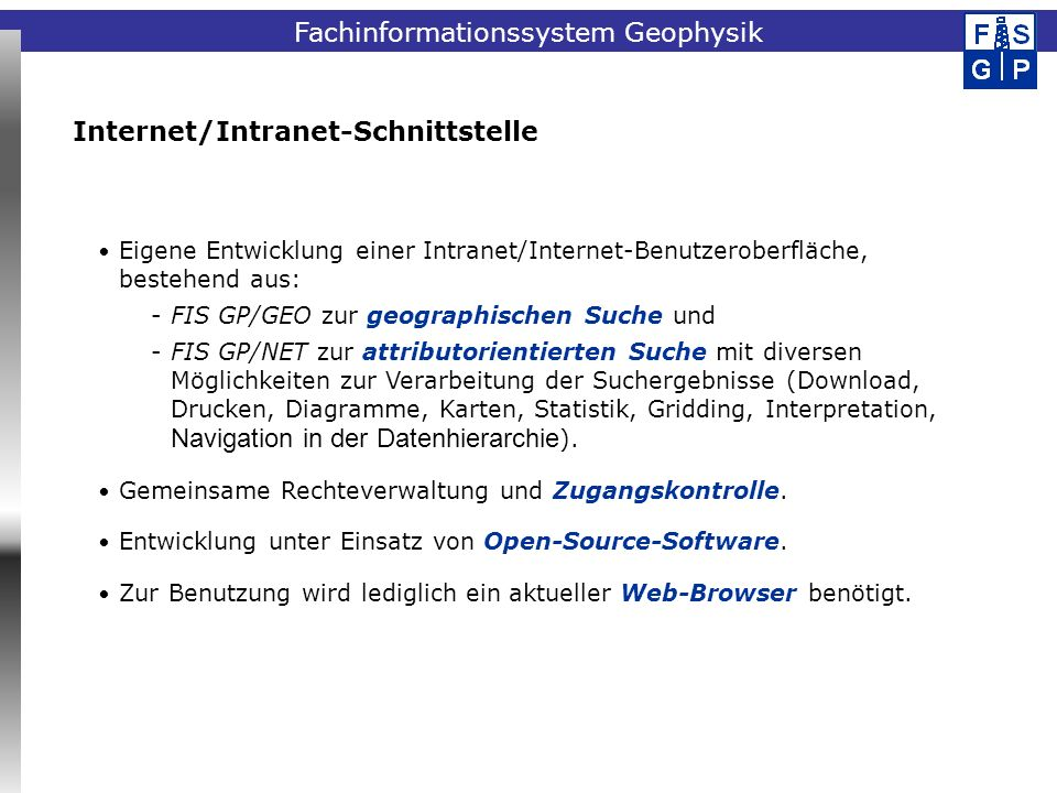 Internet/Intranet-Schnittstelle