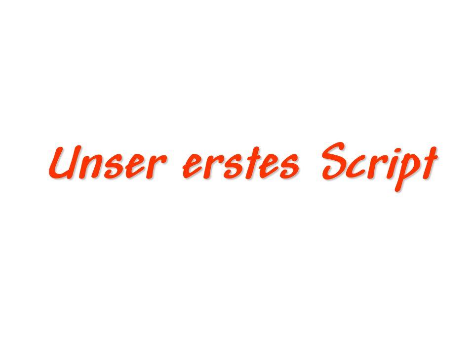 Unser erstes Script