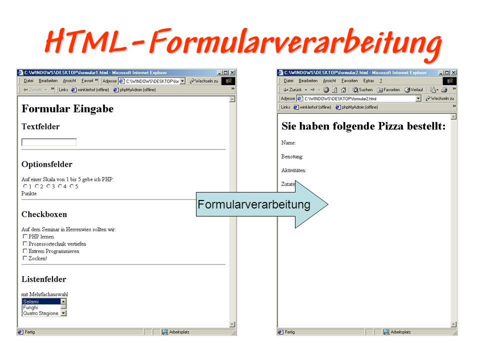 HTML-Formularverarbeitung