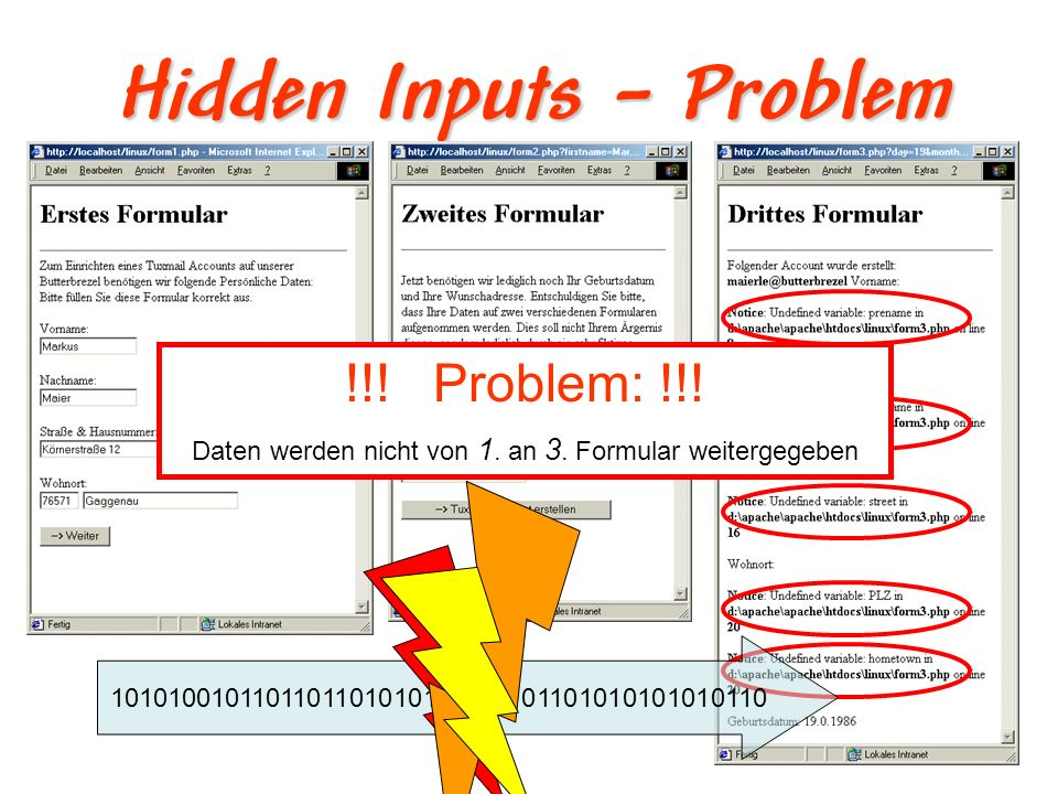 Hidden Inputs – Problem
