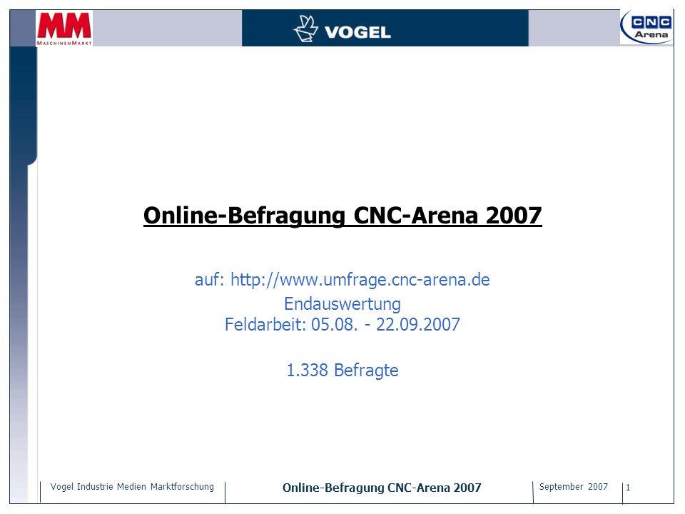 Online-Befragung CNC-Arena 2007