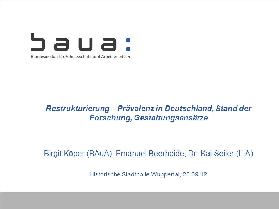 Birgit Köper (BAuA), Emanuel Beerheide, Dr. Kai Seiler (LIA)