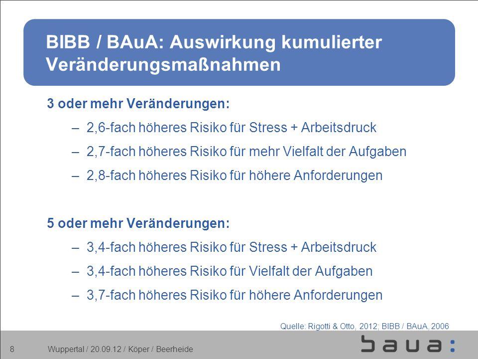 BIBB / BAuA: Auswirkung kumulierter Veränderungsmaßnahmen