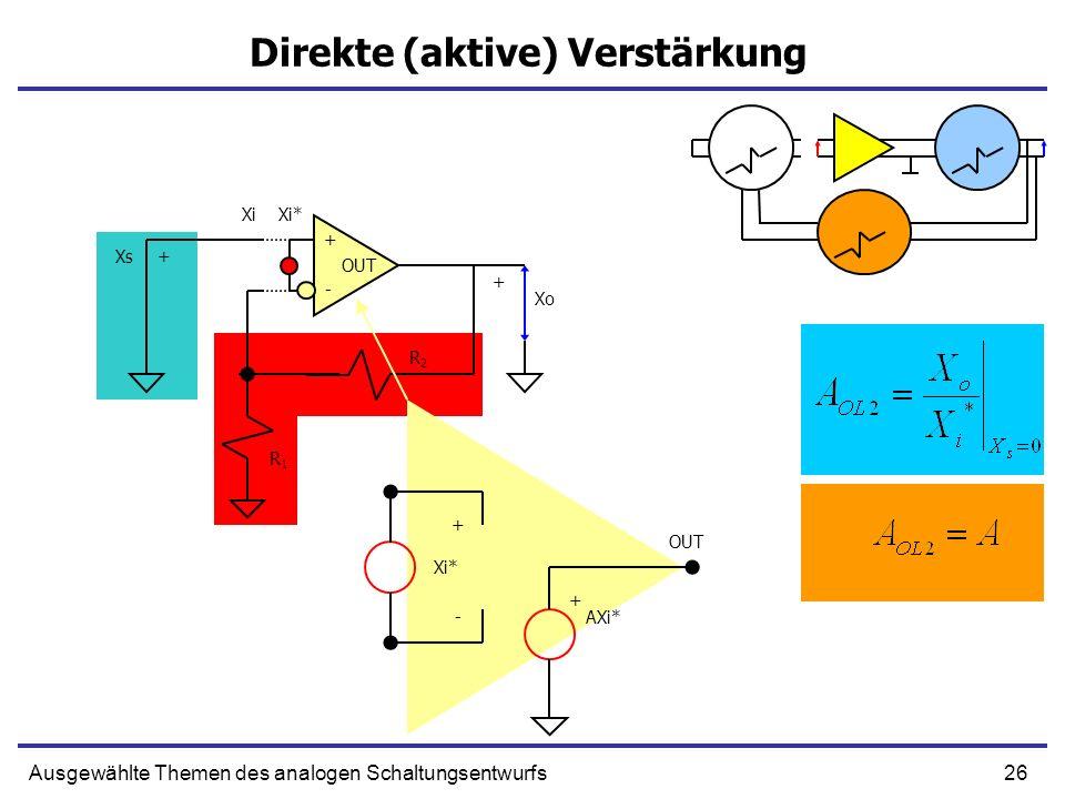 Direkte (aktive) Verstärkung