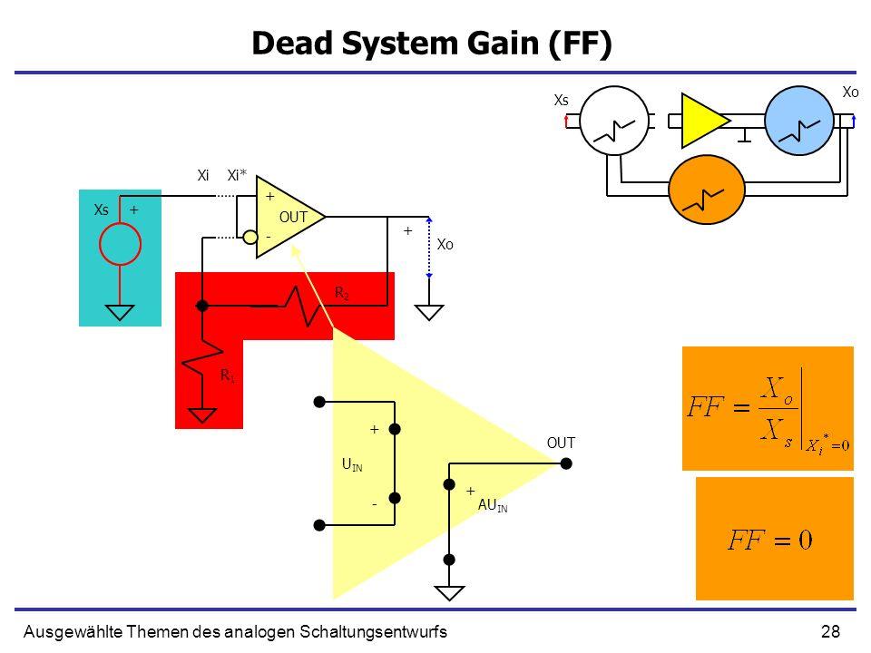 Dead System Gain (FF) Xo. Xs. Xi. Xi* + Xs. + OUT. + - Xo. R2. R1. + OUT. UIN. + -