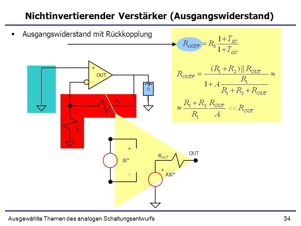 Nichtinvertierender Verstärker (Ausgangswiderstand)