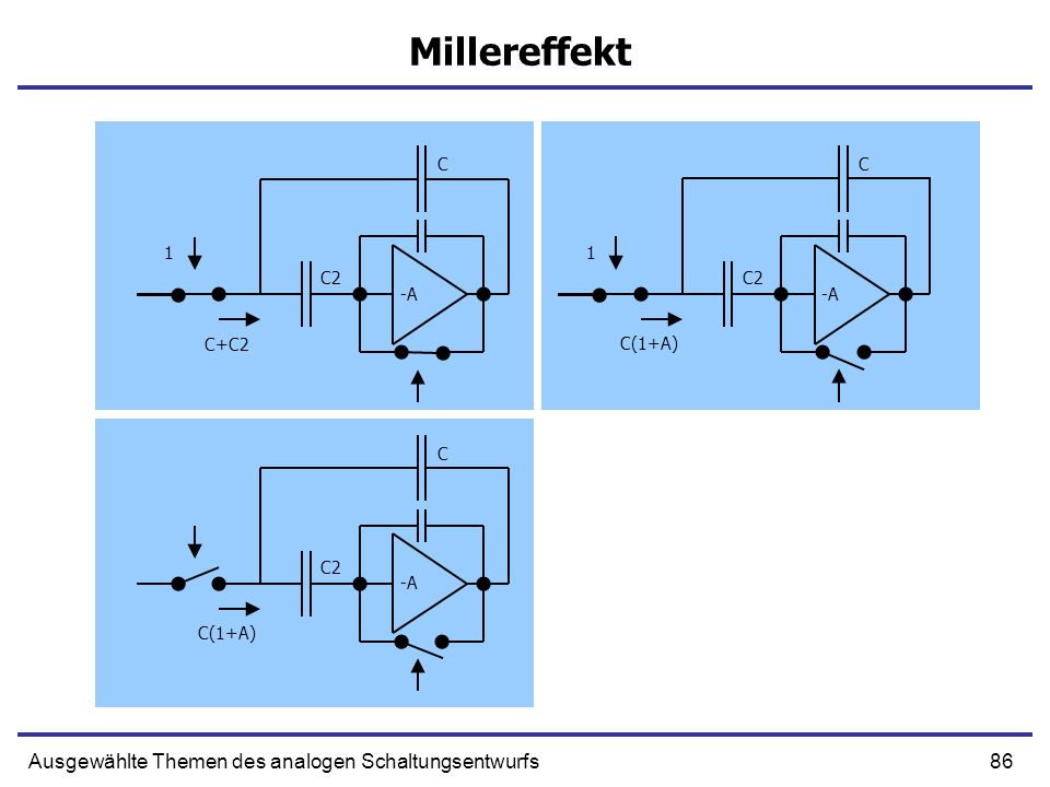 Millereffekt Ausgewählte Themen des analogen Schaltungsentwurfs C C 1