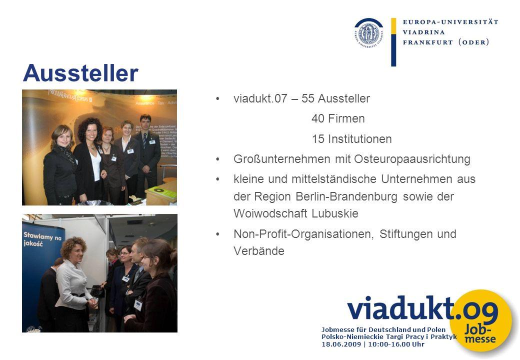 Aussteller viadukt.07 – 55 Aussteller 40 Firmen 15 Institutionen