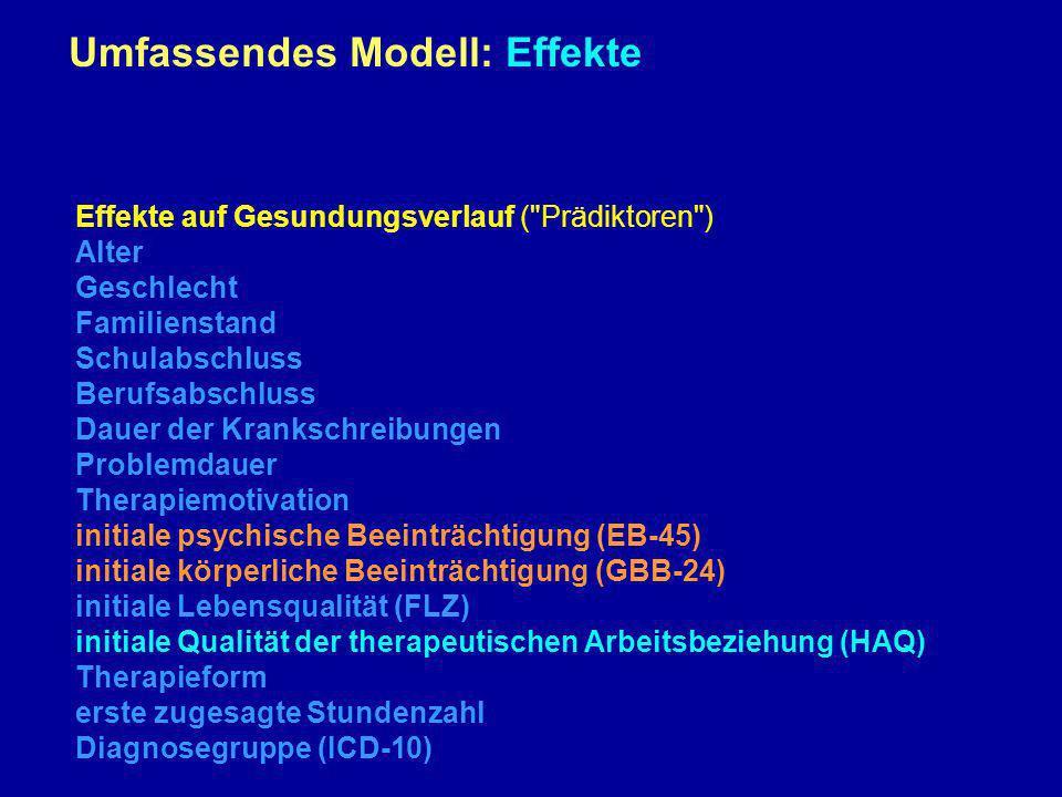 Umfassendes Modell: Effekte