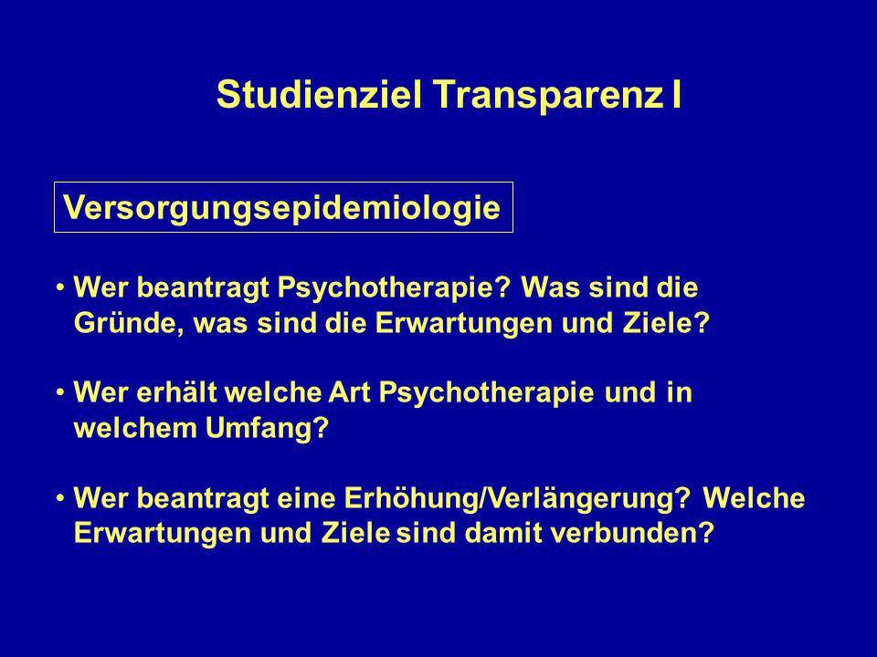 Studienziel Transparenz I