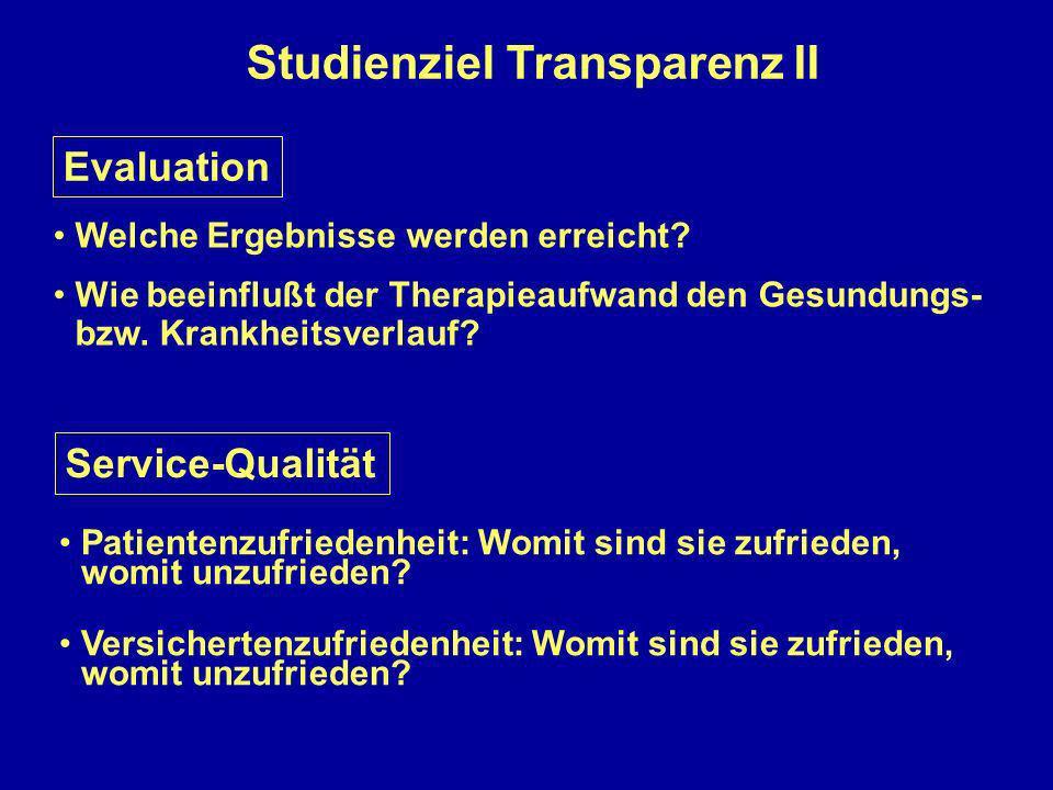 Studienziel Transparenz II