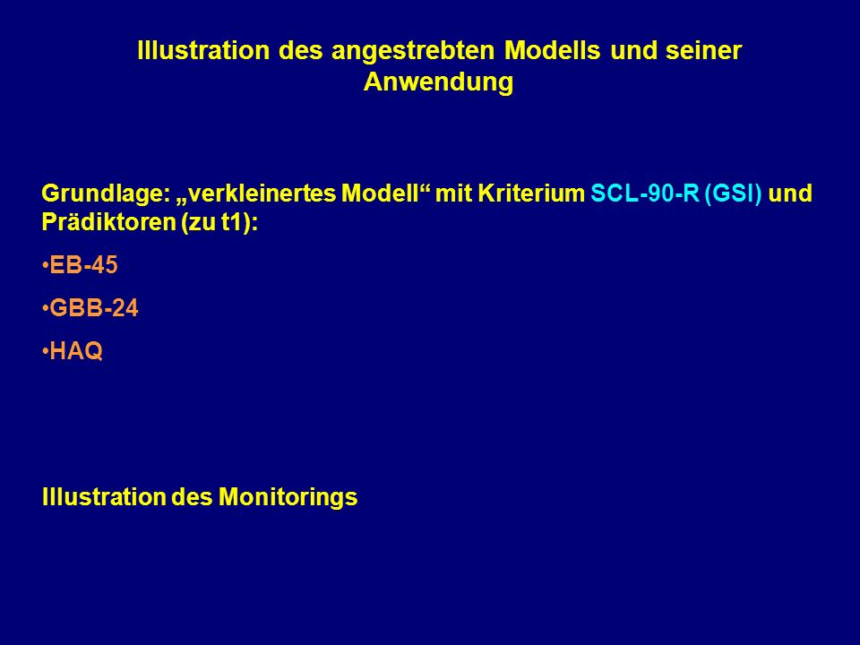 Illustration des angestrebten Modells und seiner Anwendung