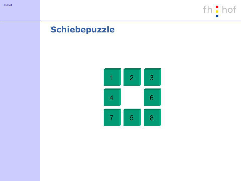 Schiebepuzzle 1 2 3 4 5 6 7 8
