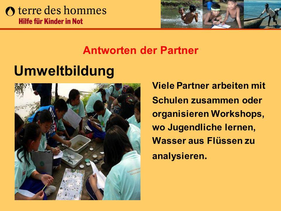 Antworten der Partner Umweltbildung.