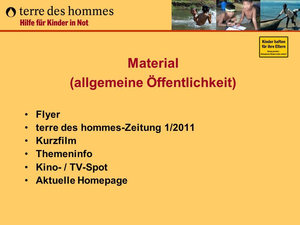 Material (allgemeine Öffentlichkeit)