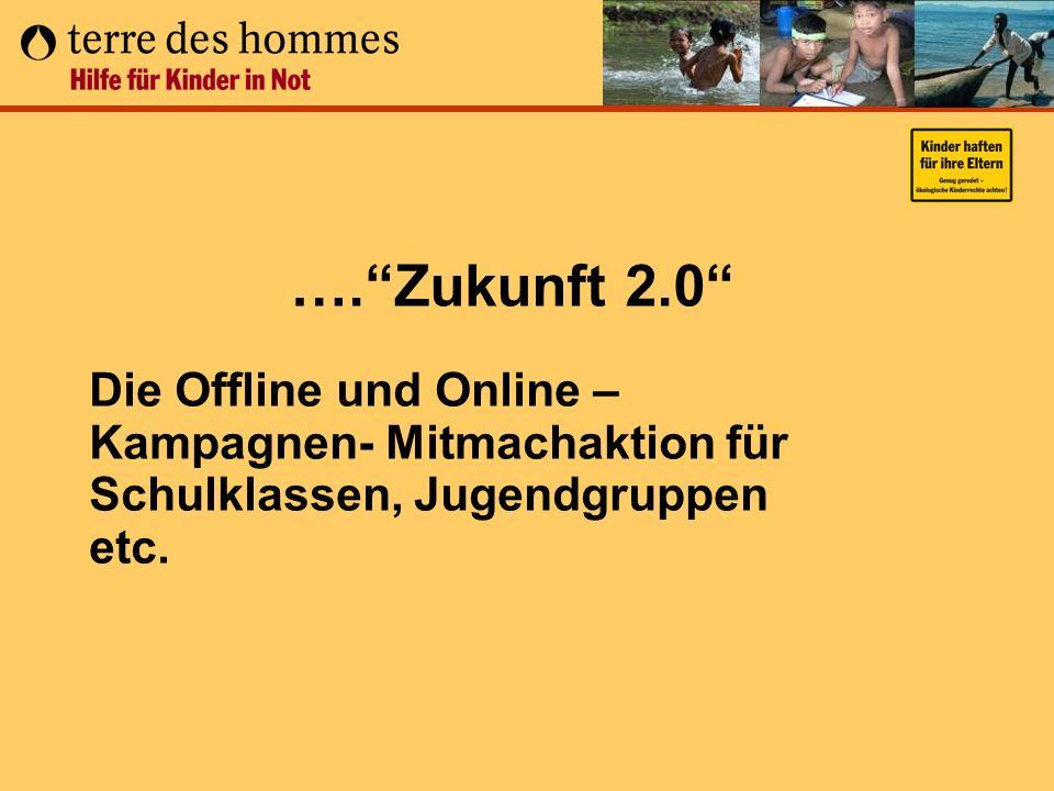 …. Zukunft 2.0 Die Offline und Online – Kampagnen- Mitmachaktion für Schulklassen, Jugendgruppen etc.