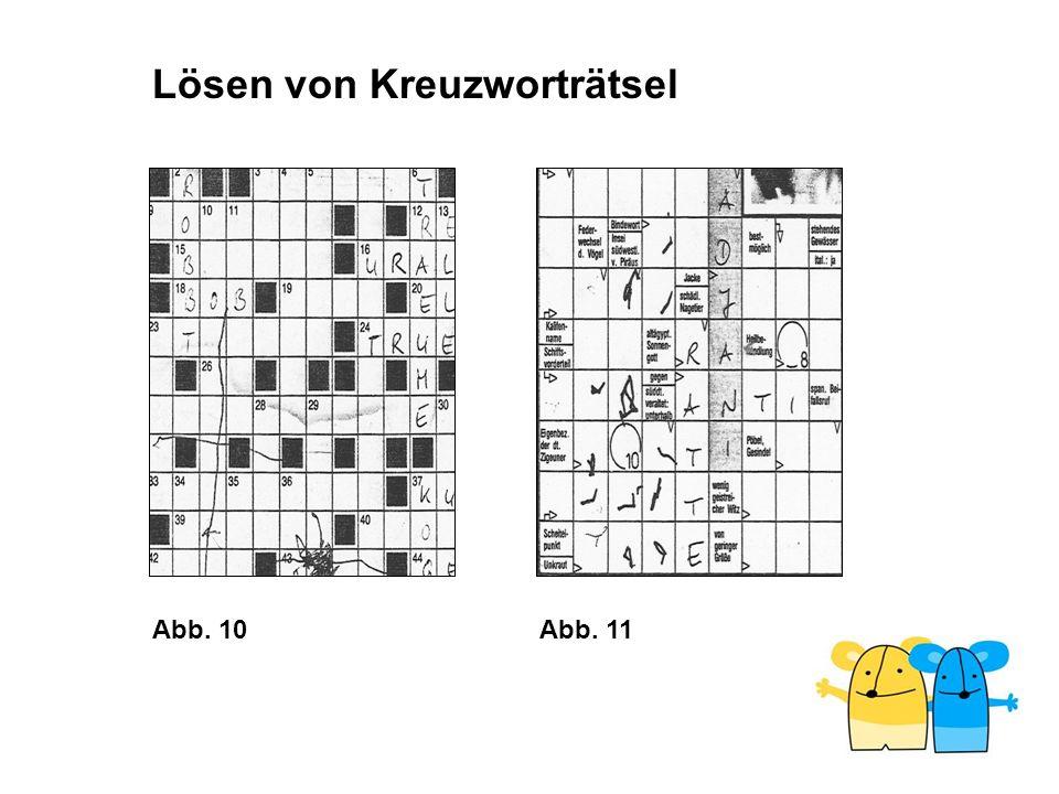 Lösen von Kreuzworträtsel
